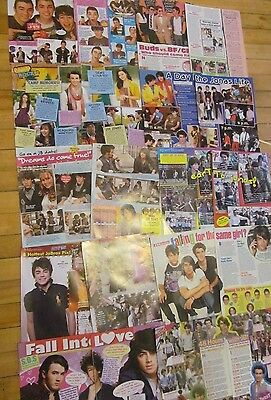 The Jonas Brothers, Lot of TEN Two Page Clippings