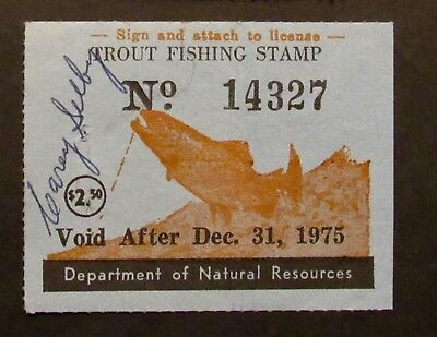 1975 Maryland Trout Fishing Stamp