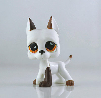 Littlest Pet DANE Brown Dog Child Girl Figure Toy Loose Cute LPS963