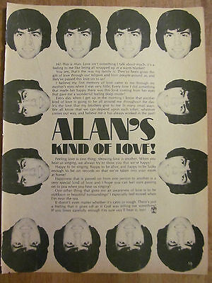 Alan Osmond, Osmonds, Brothers, Full Page Vintage Clipping