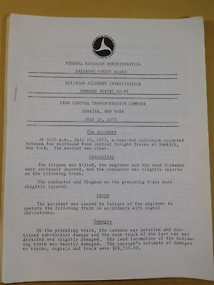 Railroad Accident Investigation Report #61 Penn Central Transportation Co 1973
