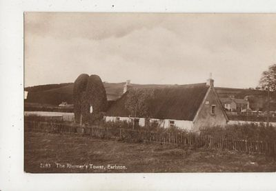 The Rhymers Tower Earlston Berwickshire Vintage RP Postcard 661b