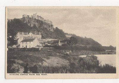 Stirling Castle From The West Vintage Postcard 085a