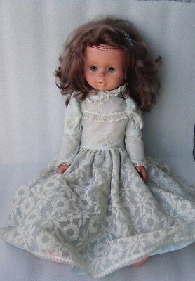 VINTAGE SONNI? 50 CM DOLL IN ORIGINAL LONG DRESS, GERMANY-GDR/DDR, 1970s