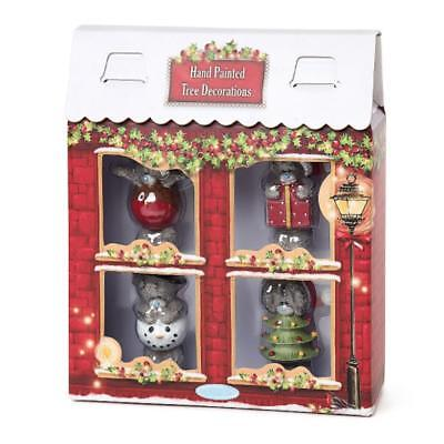 Me To You Set Of Four Resin Christmas Tree Decorations G01R0725