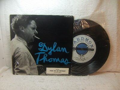 Dylan Thomas – reading Poem On His Birthday and others 1957 EP Caedmon TCE 107
