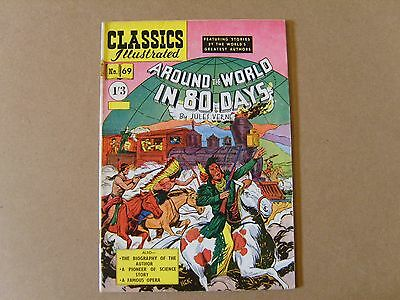 CLASSICS ILLUSTRATED  No. 69 (1954) - AROUND THE WORLD IN 80 DAYS by JULES VERNE