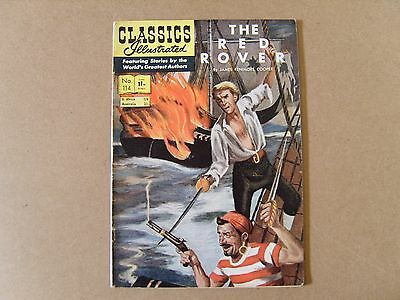 CLASSICS ILLUSTRATED  No. 114 (1954) - THE BED ROVER by JAMES FENIMORE COOPER