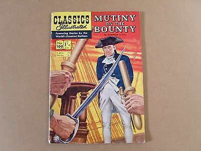 CLASSICS ILLUSTRATED  No. 100 (1955) - MUTINY ON THE BOUNTY by NORDHOFF & HALL