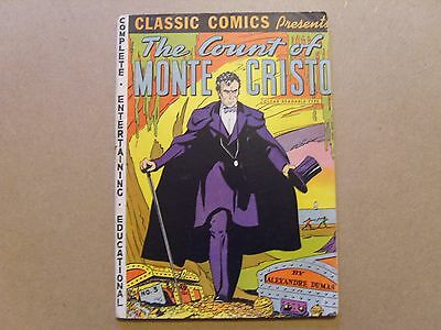 CLASSIC COMICS No 3 PRESENTS THE COUNT OF MONTE CRISTO by A DUMAS  HRN (18/20)