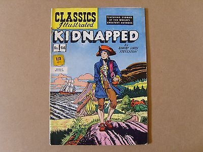 CLASSICS ILLUSTRATED  No. 46 (1955) - KIDNAPPED by ROBERT LOUIS STEVENSON
