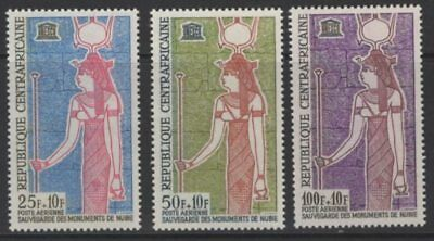 Central African Republic Sg53/5 1964 Nubian Monuments Mnh