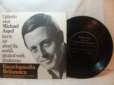 Michael Aspel talks about Encyclopaedia Britannica c1970 Flexi Disc PS