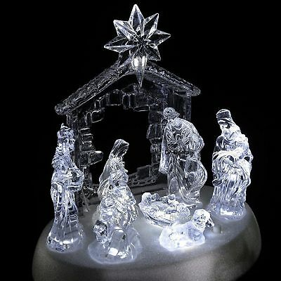 Large Light Up LED Musical Nativity Christmas Set/Scene Festive Ornament Display