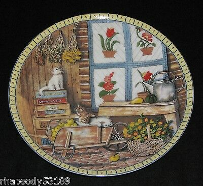 Apple Antics - Hannah Hollister Ingmire - Cozy Country Corners Plate 1991 cats