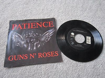 """7"""" vinyl record ,Guns and roses ,Patience /rocket queen american import"""