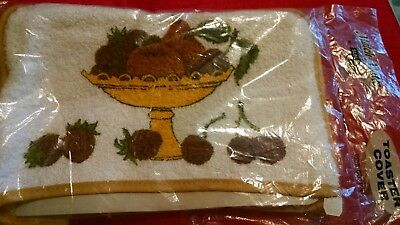 Vintage NOS Match Mates SunGlo Toaster Cover Kitchen Decor Mid Century Fruitbowl