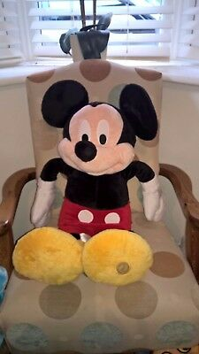 Fantastic large 28 inch tall Genuine Disney store Mickey Mouse soft toy