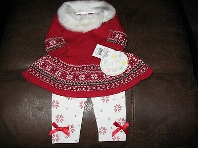 "Gorgeous Baby Beri Knit Faux Fur Winter Outfit For Reborn Girl""new Tags"""