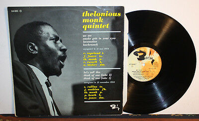 Thelonious Monk Quintet LP 1961 Made in France Jazz Barclay - Rare Vinyl !