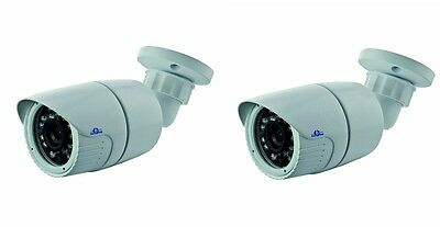 2x Telecamera Bullet CMOS 800 linee IR Giorno Notte con ICR 3,6 mm 23 LED CAM
