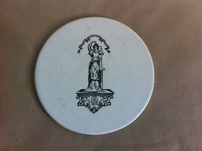DECORATIVE EARLY 1900s CERAMIC DAIRY SCALE PLATE 8 inches