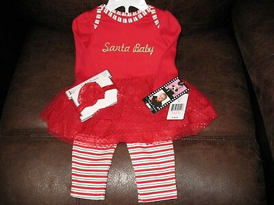 Gorgeous Vitamins Baby Christmas Outfit & Matching Headband For Reborn Girl New