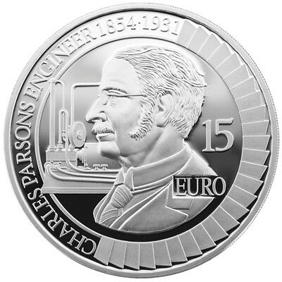 Irland 15 Euro 2017 PP - 28 g Charles Parsons  Proof