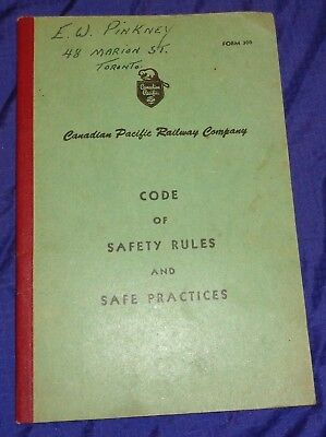 RT030 CP Canadian Pacific Railway Code of Safety Rules & Safe Practices Booklet