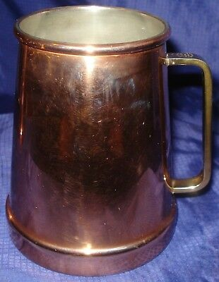 RP867 Vtg Douro B&M Solid Copper Beer Stein Portugal