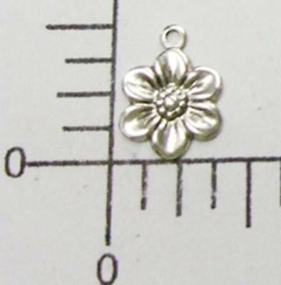 30014         6 Pc  Matte Silver Oxidized Victorian Flower Charm Jewerly Finding