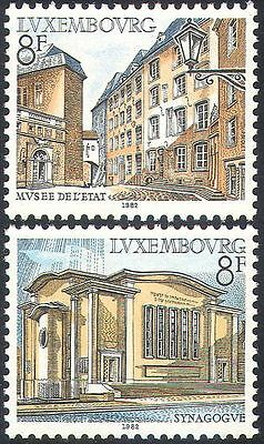 Luxembourg 1982 Tourism/Buildings/Architecture/Museum/Synagogue 2v set (n42475)