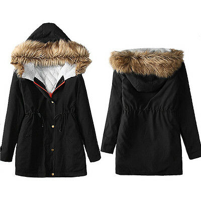 Women Winter Cotton Jacket Hooded Parka Coats Top Parker Ladies Coat Outwear