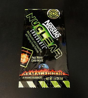 Nestle Nuclear Chocolate ARMAGEDDON Movie Candy Wrapper No Chocolate Opened 1998