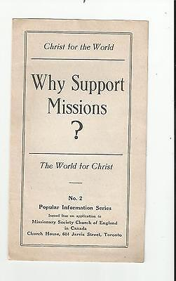 Mscc Why Support Missions World For Christ Church House Toronto