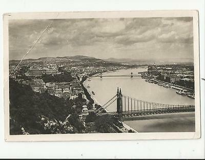 Panorama From Gellert Hill Budapest Hungary Postcard