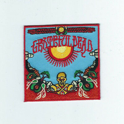Grateful Dead Skull And Mushrooms Embroidered Patch !