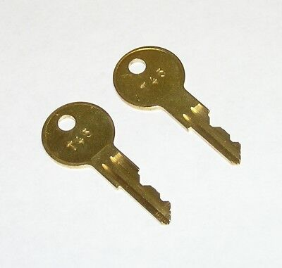 2 - T45 Replacement Keys fit Traulsen Refrigeration Equipment