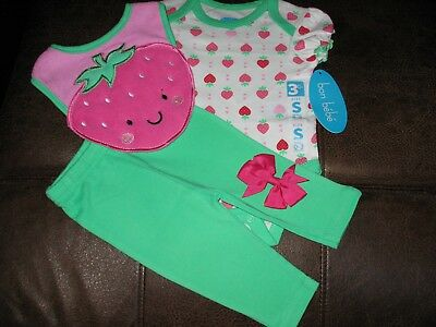 Gorgeous Bon Bebe 3 Piece Outfit For Reborn Baby Girl New/tags & /bow