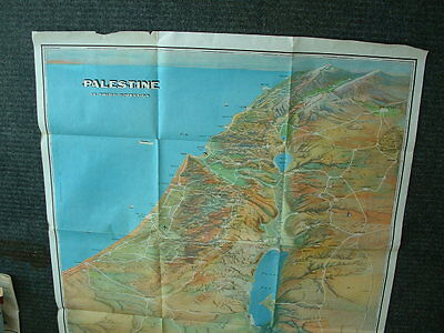 Palestine ThirdDimension Map PalestineOrientalSociety Copyrt1942 Reprint 1967 UN