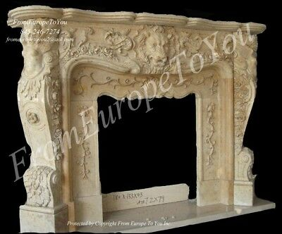 French Style Hand Carved Marble Fireplace Mantel Fgd013