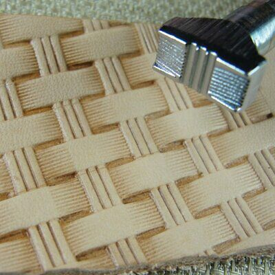 Craft Japan - #X534 Bar Basket Weave Stamp (Leather Stamping Tool)