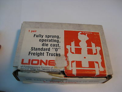 Lionel # 6-9550 pair sprung operating diecast trucks  new  sold as pictured,++