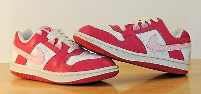 Girls Youth Nike 1.5Y Kids Shoes Sneakers GS Pink Swoosh Delta Force Tennis Walk