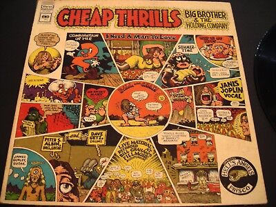 Janis Joplin Cheap Thrills 33 Rpm Vinyl Record
