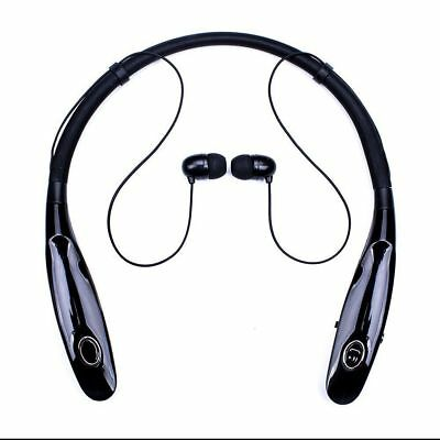 Black ZH105 Bluetooth Neckband Headset Earbuds Headphones For Call Phone LG /HTC