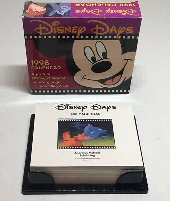NOS Disney Days Desk Calendar 1998 2026 Mickey Mouse