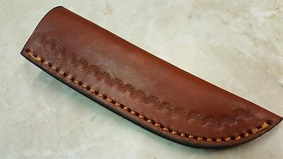 Traditional style Leather Fixed Blade Knife Belt Sheath for  3-4 in. Blades