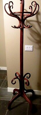 Beautiful THONET COAT TREE HAT RACK Bentwood Standing Vintage Antique Wood Art