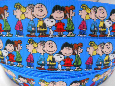 "2 yds 5 yds SNOOPY CHARLIE BROWN LUCY Grosgrain Ribbon 7/8"" 22mm Clip Cake Card"